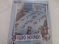 Childrens Puppy Hero Hounds Single Duvet Cover And Pillow Case set. Brand new in sealed packet