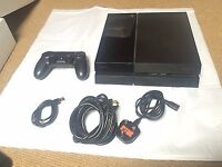 PS4 500GB Black with controller