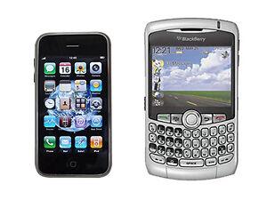 Apple iPhone 2G vs. Blackberry Curve 8300