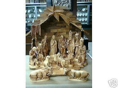 Olive Wood Nativity Set Ebay