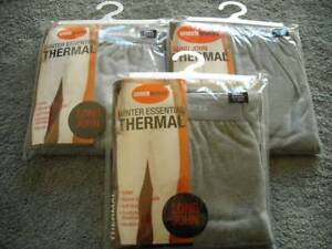 3 X Mens Cotton Thermal Long Johns / Pants Underwear Grey, Small Butler Wanneroo Area Preview