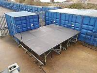 Sico portable folding Staging / Festival Stage 6ft x 8ft - 8x6 foot risers decks REDUCED