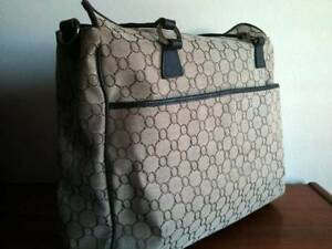 "OROTON ""Signature O"" Nappy Diaper Baby Bag Tote Brown Leather Bexley Rockdale Area Preview"