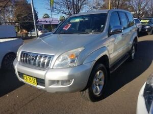2004 Toyota Landcruiser Prado GRJ120R GXL (4x4) Silver 4 Speed Automatic Wagon Campbelltown Campbelltown Area Preview