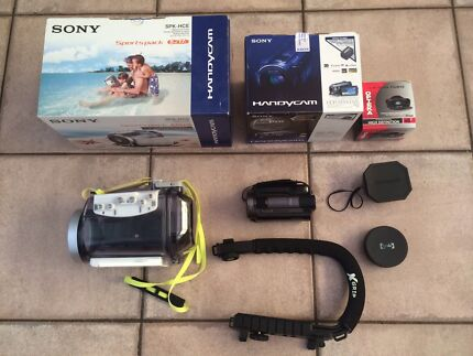 Sony HDR-XR500VE with Outdoor Equipment
