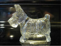 1940s Glass Scottish Terrier Candy Holder