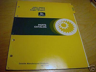 John Deere 210 310 Auger Wagon Parts Manual Catalog