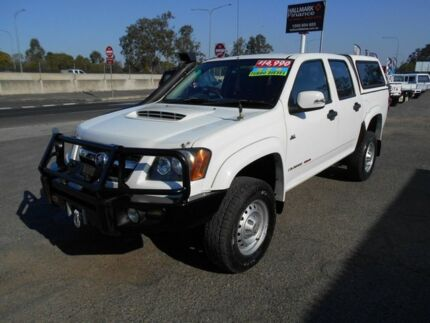 2010 Holden Colorado RC MY10 LX (4x2) White 5 Speed Manual Crew Cab P/Up