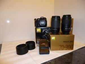 Nikon D5200 DSLR Camera plus lenses Smiths Lake Great Lakes Area Preview