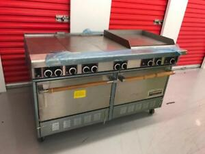 New Garland griddle , French stove with 2 ovens , never used ! Only $2300