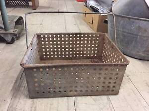 Vintage Solid Metal Grape Dip Tin Container Carrier Planter Pot Queenstown Port Adelaide Area Preview