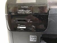 HP PHOTOSMART WIRELESS E-ALL-IN-ONE PRINTER WITH 3 NEW BLACK CARTRIDGES B110 NEEDS NEW PRINTHEAD