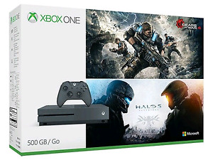 BRAND NEW XBOX ONE HALO 5 AND GEARS OF WAR 4