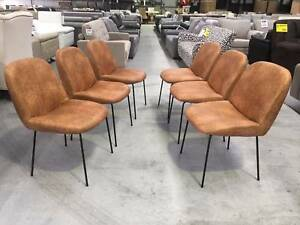 "LEATHER LOOK COTTON ""MARTY"" DINING CHAIRS! Richmond Yarra Area Preview"