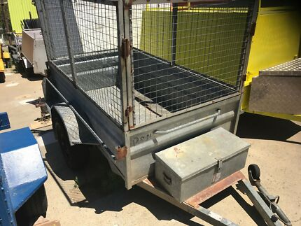 7 x 4 Galvanise Cage Trailer With Rego