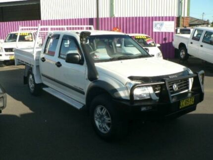 2006 Holden Rodeo RA MY06 Upgrade LX (4x4) White 5 Speed Manual Cab Chassis