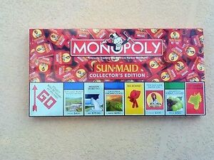 Monopoly NEW in Box  Sunmaid Raisins