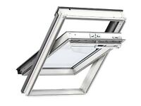 New, unused VELUX Centre-Pivot White Painted Pine Roof Window GGL PK08 2060 at half the price