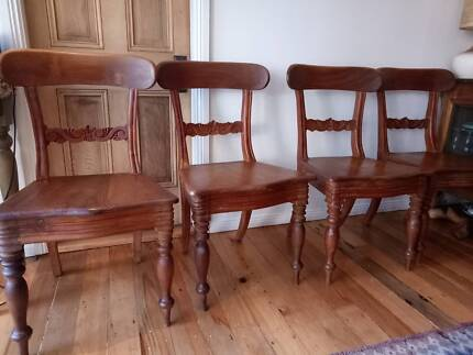 Dining chairs, timber. Beautiful set of 4.