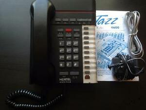 Nortel Jazz 4600 two-line desk phone.