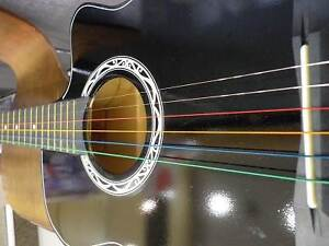 """Brand New Rainbow Steel String Acoustic 38"""" Guitar with Capo Macquarie Park Ryde Area Preview"""