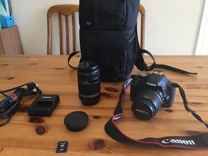 As new condition Canon EOS 500D twin lens kit