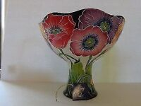 Poppy pedestal fruit bowl by Jeanette McCall/Blue Sky ICING ON THE CAKE Brand New, with Original Box