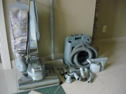 G7 Kirby Vacuum Cleaner, attachments,hose,& caddy to store them