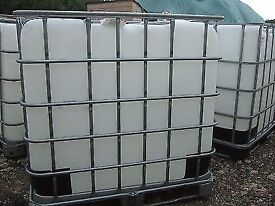 water storage IBC 1000ltr litre tank bowser rain water garden fuel tanks clean