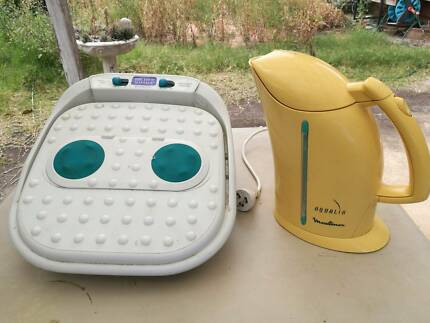 Foot massager and Moulinex kettle