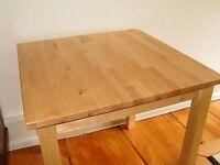 IKEA oakwood square table