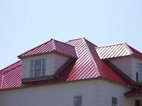 New Canadian made quality steel roof installed from $5/ sq. ft.