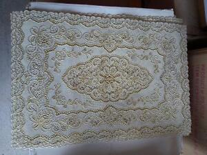 Set of 6 gold tone placemats table mats London Ontario image 1