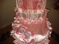 one of a kind leather bling pram