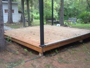 Selling  12x12.5 Gazebo Deck at Candle Lake