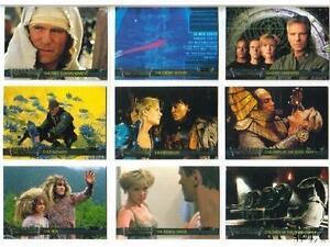 2001 STARGATE SG1 PREMIERE 72 CARD SET COVERS SEASON 1 TO 3