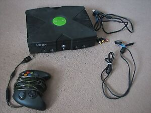 Microsoft Original Xbox with Controller & Wires - Tested&Working