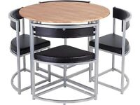 Hygena Milan space saver table and chairs