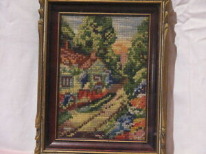 2 pieces of Vintage Needle Point Art work Peterborough Peterborough Area image 1