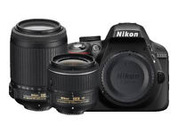 Nikon D3300 24.2 MP Digital SLR Camera - Black - 18-55 mm and 55-200 mm Lenses