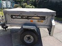 Trailer Daxara 107 with high loading bars and covers