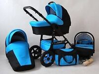 Pram 3 in 1 travel system
