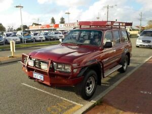 1996 Toyota Landcruiser FZJ80R GXL Red 4 Speed Automatic Wagon