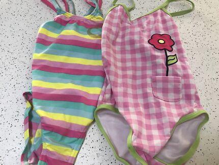Girls Speedo swimmers x2