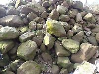 Bags of rockery stone