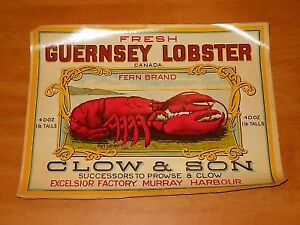Old PEI Lobster and Fish Labels Wanted