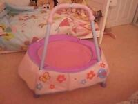 Pink indoor toddler trampoline- Chad valley