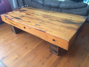 Vintage Dutch solid oak sleeper coffee table Emu Heights Penrith Area Preview