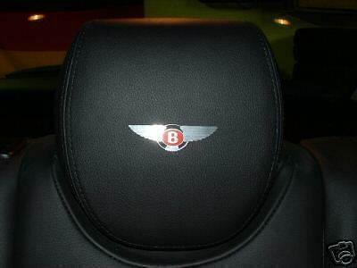 4  BENTLEY Red Label Headrest badge Continental GT
