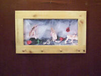 Ballet Slippers Art Framed Peg-Board